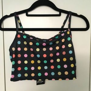 Nasty Gal 2 Piece Set NWT Size 8 Rainbow Polka Dot